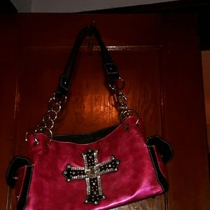 Fun pink leather purse